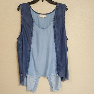 Anthropologie/Cloth & Stone Chambray top